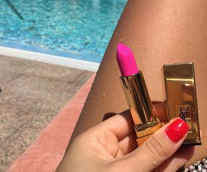 pink, pool, and nails image