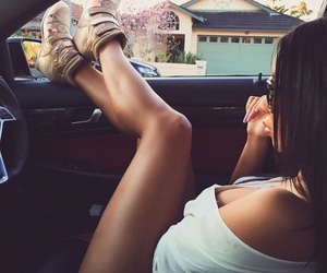 black hair, sunglasses, and car image