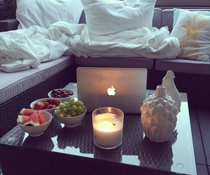 candle, fruit, and food image