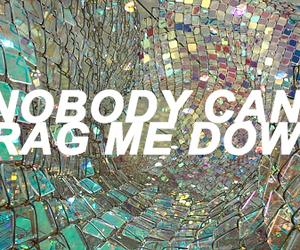 aesthetic, drag me down, and Lyrics image