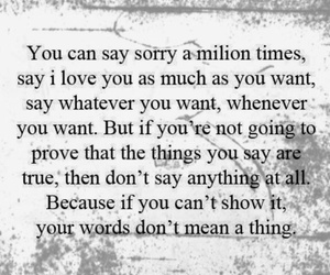 meaning, sorry, and words image