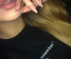 lips, girl, and nails image