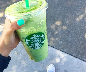 drink, green, and starbucks image