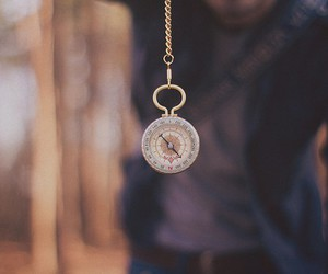 compass, vintage, and clock image
