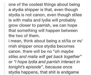 otp, stydia, and teen wolf image
