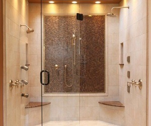shower, luxury, and bathroom image