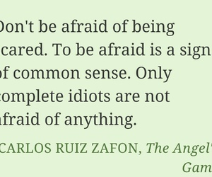 common sense, fear, and quote image