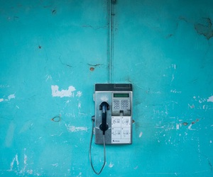 blue and telephone image