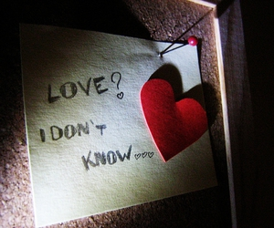 heart, post it, and love image