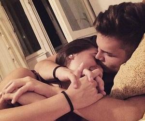 beautiful, cuddling, and kiss image