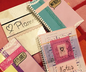 cover, diy, and planner image