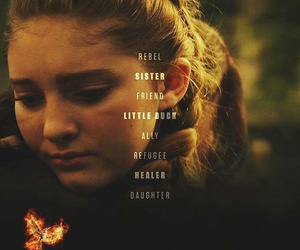 the hunger games, primrose everdeen, and mockingjay image