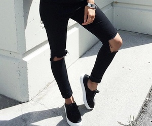 fashion, black, and style image