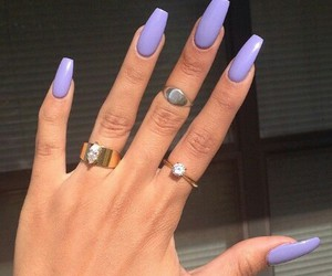 nails, purple, and rings image