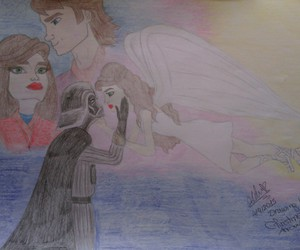 Anakin Skywalker, artwork, and couple image