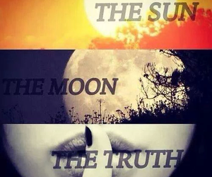teen wolf, moon, and sun image