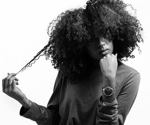 black woman, curly hair, and african american woman image