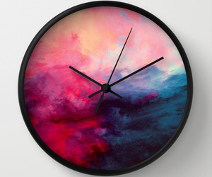 abstract, blue, and clock image
