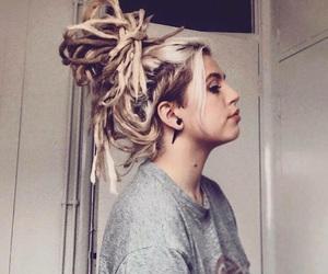 blonde, dreadlocks, and dreads image