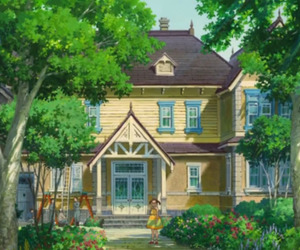 anime, anna, and building image