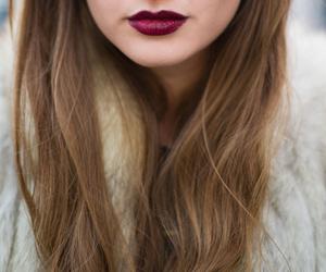 lips, girl, and hair image