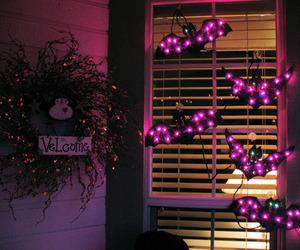 Halloween, decoration, and lights image