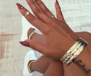acessories, glamour, and gold image