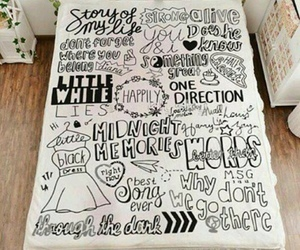 one direction, songs, and bed image