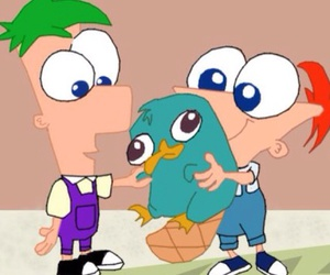 perry, phineas, and ferb image