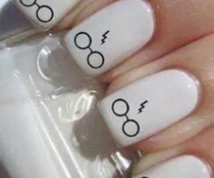 nails, harry potter, and white image