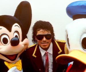 disney, michael jackson, and mickey mouse image