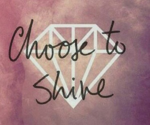 shine, diamond, and quotes image