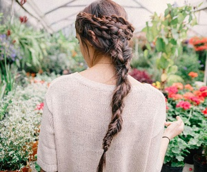 fashion, flowers, and trenzas image