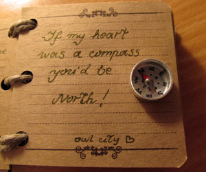 book, writing, and compass image