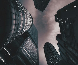 city, sky, and grunge image
