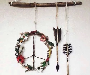 peace, hippie, and arrow image