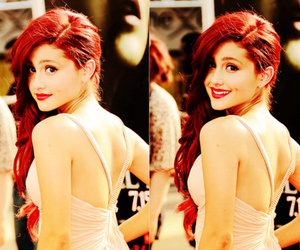 ariana grande, ariana, and red hair image