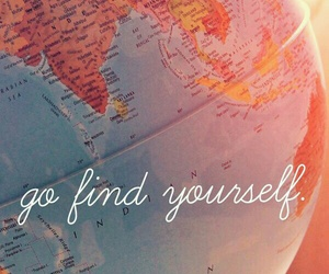 travel, yourself, and find image