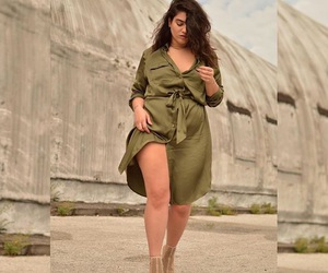 fashion, model, and plus size image