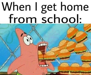 funny, food, and school image