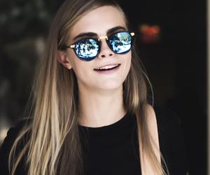 cara delevingne, model, and sunglasses image