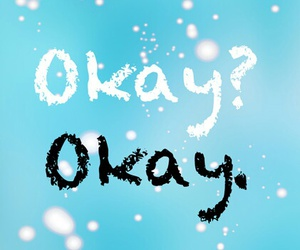 black and white, the fault in our stars, and okay?okay image