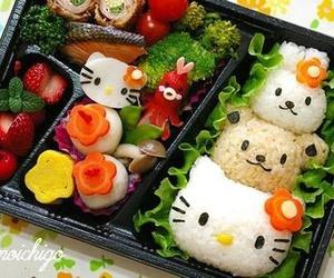 food and hello kitty image