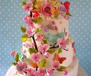 cake, spring, and food image