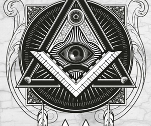 illuminati, triangle, and eye image