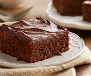 cake, chocolate, and fudge image