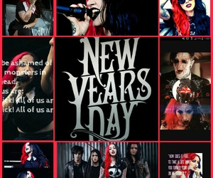 bae, new years day, and red and black hair image
