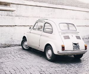 white, car, and vintage image
