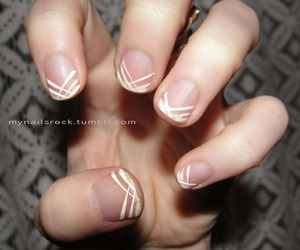 lines, nail art, and nails image