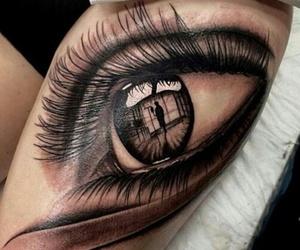 tattoo, eye, and eyes image